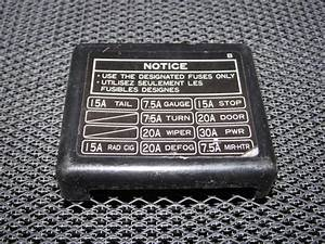 91 92 93 94 95 Toyota Mr2 Oem Interior Fuse Box Cover