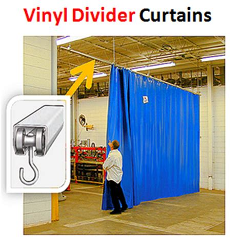vinyl curtain dividers by akon curtain and divider