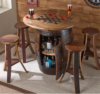 Table Barrel Chess Whiskey Card Games Ideal