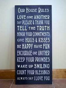 inspiration house quotes on pinterest family name signs With kitchen cabinets lowes with our family rules wall art