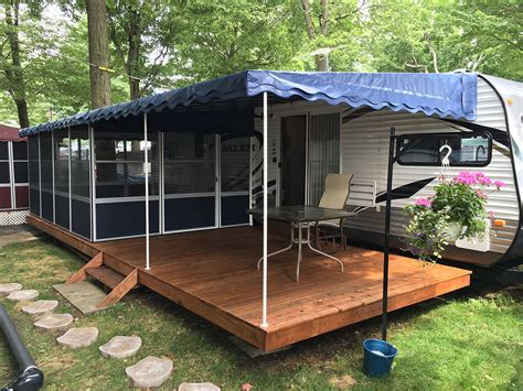 trailer deck enclosure system add  room screen rooms  sale