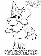 Bluey Coloring Mackenzie Printable Colouring Bingo Blueys Coloringonly sketch template