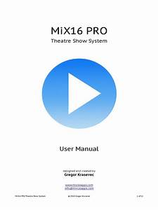 Mix16 Pro User Manual Pdf