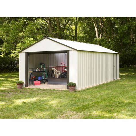 shed up arrow murrayhill vinyl coated steel shed 12 w x 17 l
