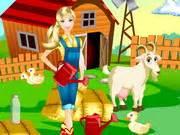 barbie farm day play  girl game