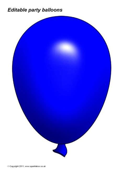 Balloon Template Editable Balloon Templates Sb3996 Sparklebox