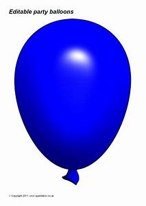 Editable Party Balloon Templates  Sb3996