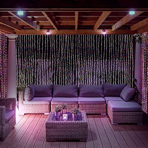led concepts  led curtain string icicle fairy lights
