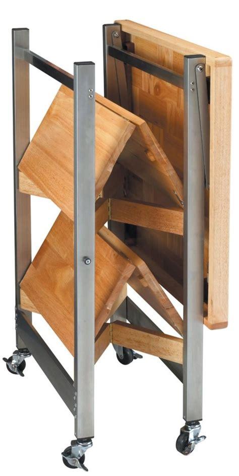 folding kitchen island work table oasis concepts stainless folding rv kitchen island many uses