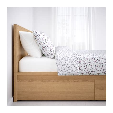 ikea chambre malm malm cadre de lit haut 2 rangements 140x200 cm ikea