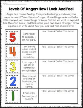 anger management worksheets by counselorchelsey tpt