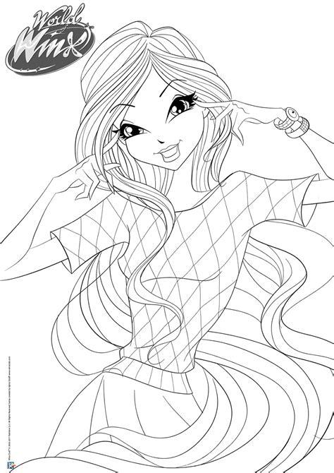 Winx Kleurplaat Bloom by Kleurplaten Winx Club Enchantix