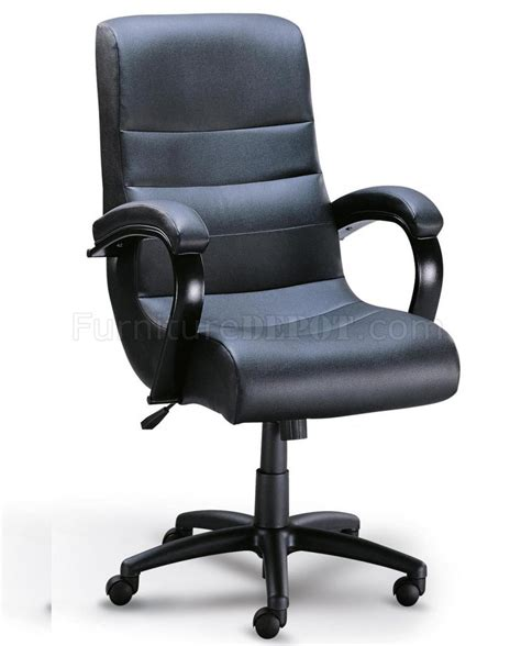 black leather like executive high back chair w lumbar support