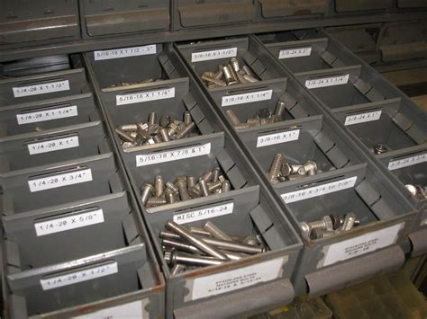 organize small hardware nuts bolts