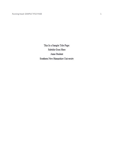 Apa Cover Page Template Doliquid