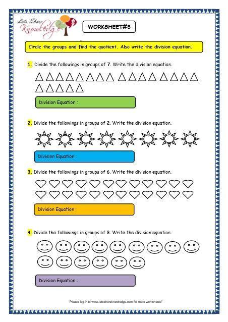 grade 3 maths worksheets division 6 2 division by