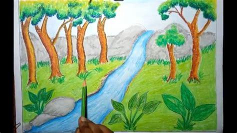 draw rainforest jungle scenery  kids step