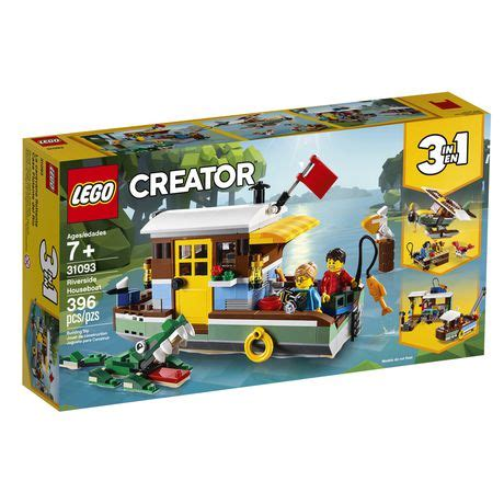Lego creator 3in1 deep sea creatures 31088 make a shark, squid, angler fish, and crab with this sea animal toy building kit (230 pieces). Lego Creator 3in1 Riverside Houseboat Building Block Set ...