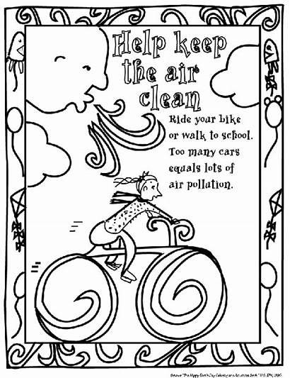 Coloring Pollution Pages Air Sheets Environmental Sheet