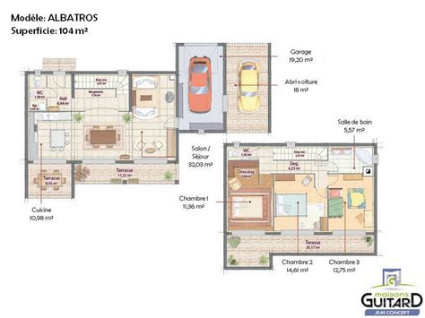 finest merveilleux plan interieur maison maison tage et toit plat mod with plan maison moderne