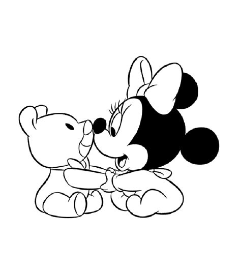 baby minnie mouse coloring pages cute style educative