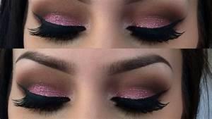 pink glitter valentines day makeup tutorial