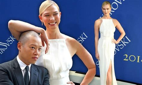 Karlie Kloss Stuns In White Jason Wu Gown As She Towers