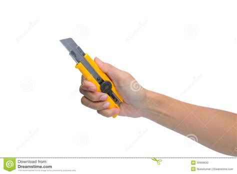 Woman Hand Holding Box Cutter Knife Stock Photo Visiting Card Printers In Rt Nagar Pixel Size Of A Business Paper Grams Printer London Glossy For Laser Design Price 2017 Surat Boksburg