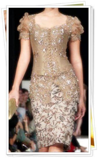 kebaya lengan pendek model pakaian wanita pakaian