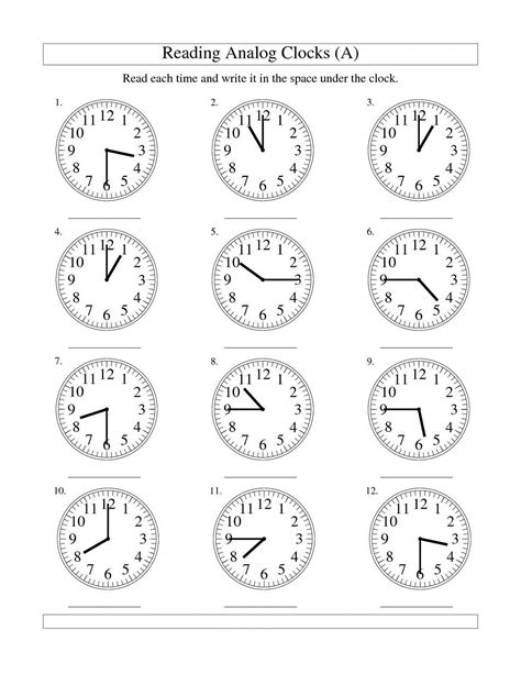 math worksheets clock faces time worksheets for learning