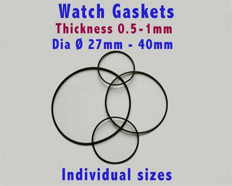 Watch Rubber Gaskets O Rings, Watch Back Seals, Pack Of 3