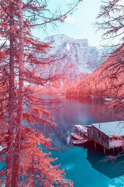 Mountains Infrared Dolomites Dolomite Pettigiani Paolo Landscapes