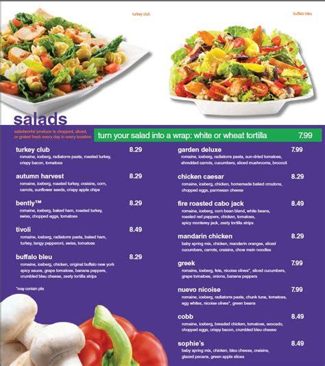 menu  saladworks  andrews avenue fort lauderdale