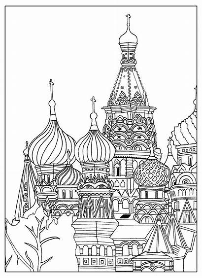 Coloring Buildings Pages Popular