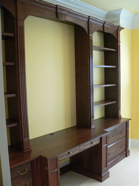 hand crafted home office wall unit  meisterbuilders
