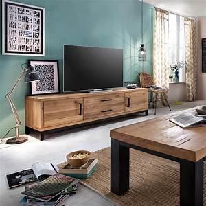 Tv Lowboard Mit Tv Halterung : tv lowboard bestano 200 x 50 x 55 cm eiche massivholz ~ Michelbontemps.com Haus und Dekorationen