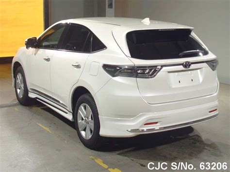 2016 toyota harrier white for sale stock no 63206 used cars exporter