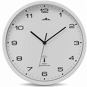 Horloge Murale Blanche : horloge murale blanche radio pilot e changement heure ~ Teatrodelosmanantiales.com Idées de Décoration