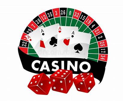 Casino Dice Cards Roulette Playing Emblem Table