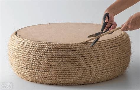 How to Make Turn an Old Tire into a Rope Ottoman   DIY & Crafts   Handimania