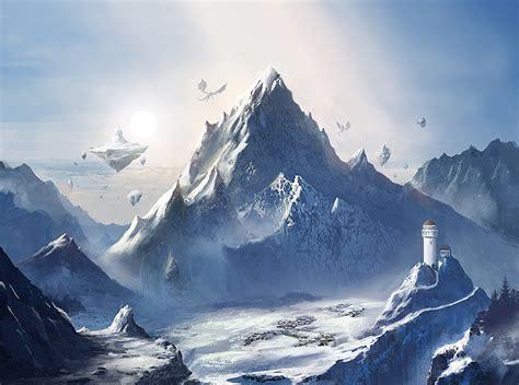 Pixel Art Landscape Wallpaper Mobile Game Snow Mountain By Mrainbowwj On Deviantart