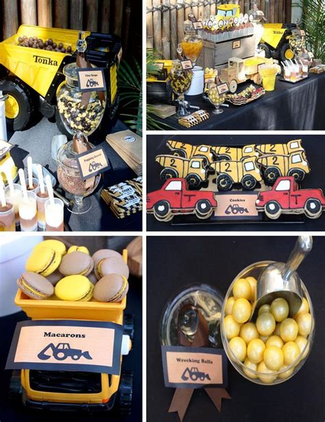 construction truck themed 1st birthday party planning ideas kara 39 s party ideas construction truck birthday party