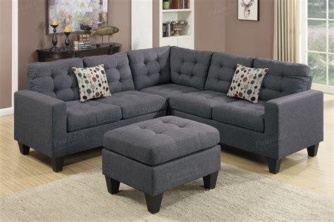 accent pillows for grey sofa blue grey polyfiber 4pc modular sofa sectional w ottoman