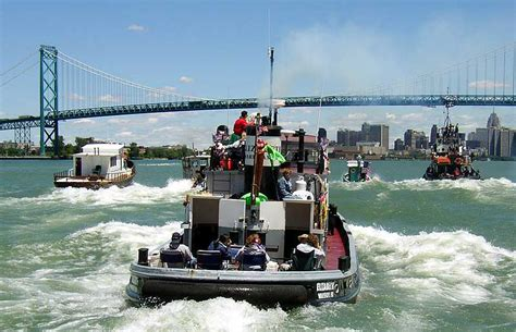Tug Boat Race Windsor by Unique International Tug Boat Race Celebrates Detroit