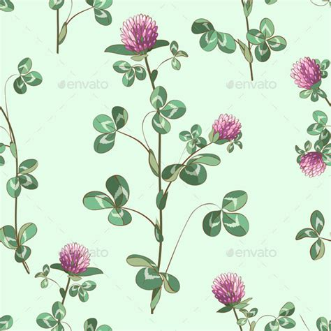 Clover Templates Flowers by Clover Flowers Pattern By Val Iva Graphicriver