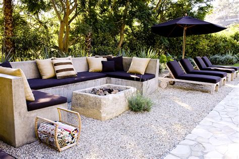 outdoor concrete sofa deck patio designs