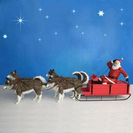 santa  dog sled   christmasnightinccom