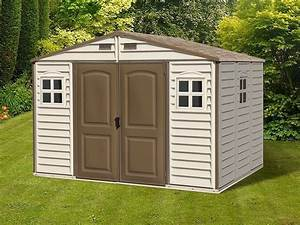 Abri de jardin resine woodstyle premium 76 m2 direct abris for Abri jardin resine