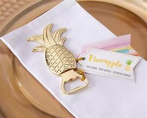 gold pineapple bottle opener my wedding favors With bottle opener wedding favor