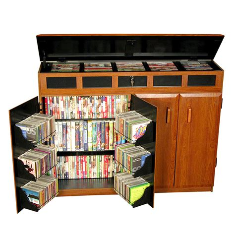 kitchen organization products venture horizon wide wooden media cabinet with lid 2362